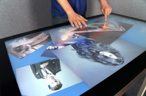 large touch screen display